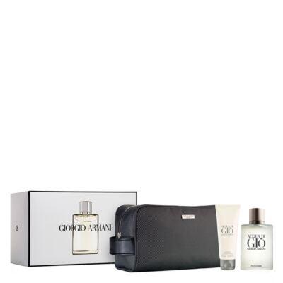 Acqua Di Giò Homme Eau de Toilette Giorgio Armani Kit - Perfume + Gel de Banho + Miniatura - Kit - inativo