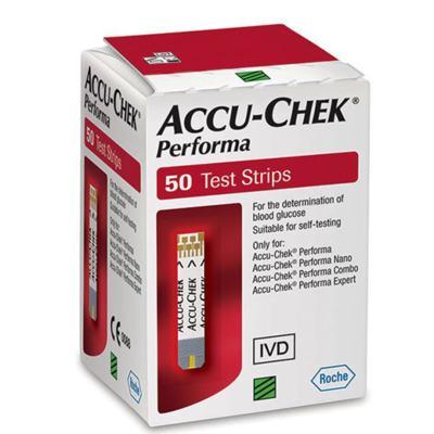 Imagem 3 do produto Tiras para Teste de Glicemia Accu-Chek Performa 50 Unidades -