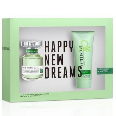 Imagem 1 do produto Kit United Dreams Live Free Benetton Eau de Toilette Feminino - 80 ml