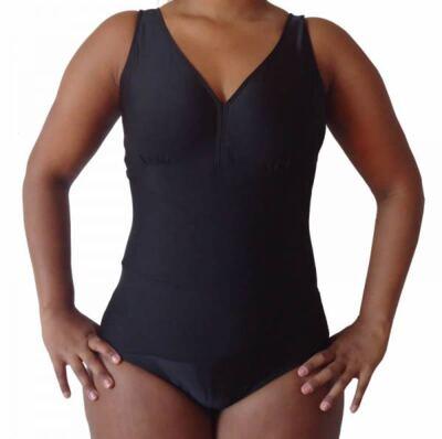 Imagem 1 do produto Maio de Piscina para Protese Mamária Curvatex - PRETO 48
