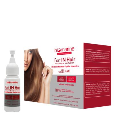 Imagem 2 do produto Biomarine Fort in Hair Fluido Antiqueda Intensivo Ampola - Biomarine Fort in Hair Fluido Antiqueda Intensivo Ampola 10 x 10ml