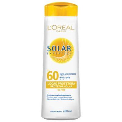 Imagem 1 do produto Protetor Solar L'Oréal Paris Solar Expertise Loção Protetora FPS 60 - 200ml