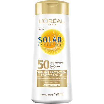 Protetor Solar L'Oréal Paris Solar Expertise Sublime Protection SPF 50 - 120ml