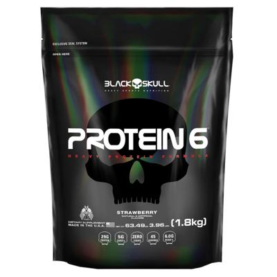 Protein 6 1.8kg Chocolate Black Skull