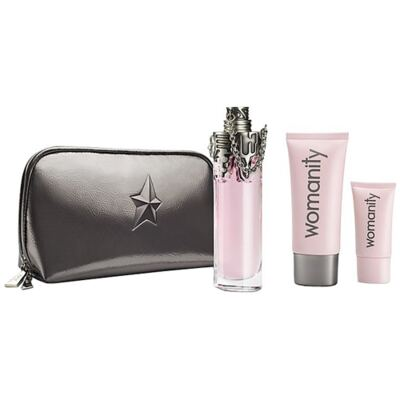 Womanity Mugler - Feminino - Eau de Parfum - Perfume + Loção Corporal + Gel de Banho - Kit