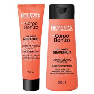 Imagem 1 do produto Corpo Bonito Grapefruit Nick & Vick - Kit Sabonete Liquido + Hidratante Corporal - Kit