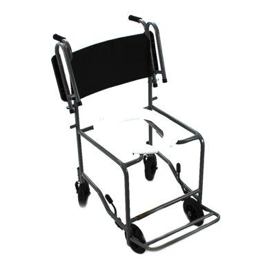 Cadeira de Banho com Braço Escamoteável Preta 201 CDS