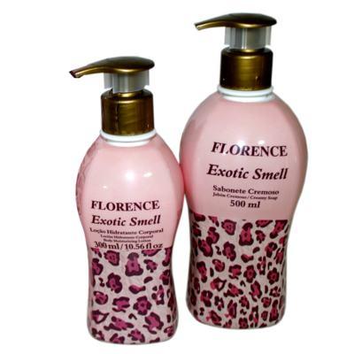 Imagem 1 do produto Exotic Smell Florence - Kit Sabonete Cremoso 500ml + Loção Corporal 300ml - Kit