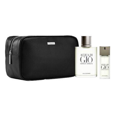 Imagem 1 do produto Acqua Di Gio Pour Homme Giorgio Armani - Masculino - Eau de Toilette - Perfume + Edt + Nécessaire - Kit
