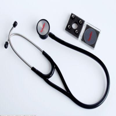 Imagem 1 do produto Kit Esteto Cardiológico Preto com Aparelho de Pressão Grafite Premium