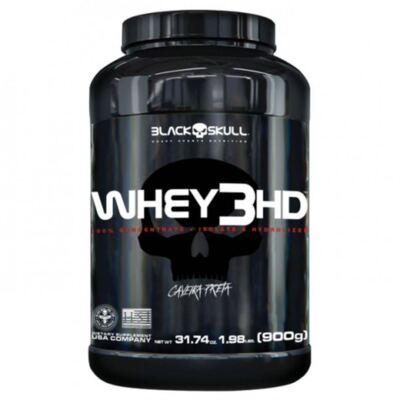 Whey 3 HD Black Skull Caveira Preta Sabor Chocolate 900g
