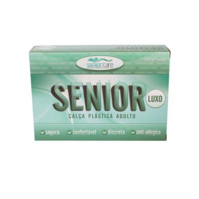 Calça Plástica Bege Com Botão Luxo Senior Care - M