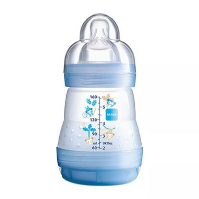 Imagem 1 do produto Mamadeira MAM First Bottle Bico de Silicone Ortodôntico Silk Touch Desenhos Sortidos 160ml 0+ Meses Boys