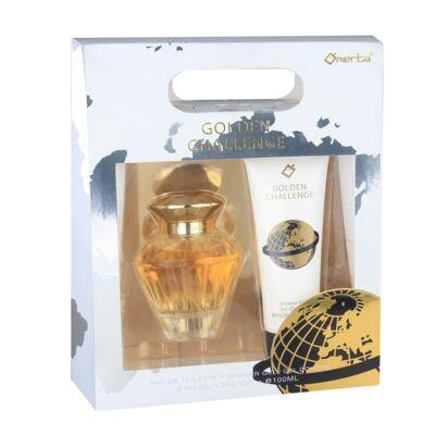 Golden Challenge Omerta - Feminino - Eau de Toilette - Perfume + Gel de Banho - Kit