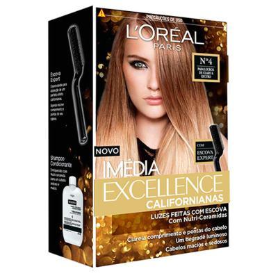 Imagem 1 do produto Tintura para Cabelos L'oréal Paris Imédia Excellence Californianas - 4 - Louros de claro a escuro