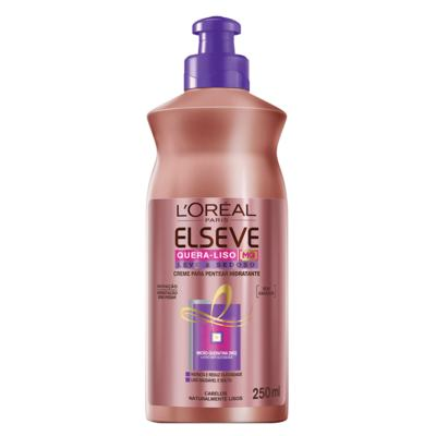 Imagem 1 do produto L'Oréal Paris Elseve Quera-Liso Leve e Sedoso - Creme de Pentear - 250ml