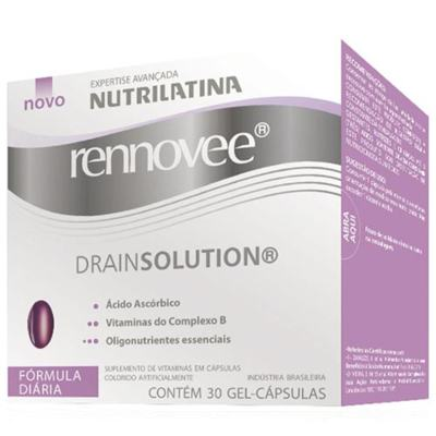 Imagem 1 do produto Renovee Drainsolution Nutrilatina - Suplemento para Drenagem e Delineamento do Corpo e Pernas - 30 Cáps