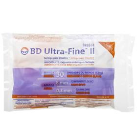 Seringa Ultra Fine II BD - 0,3 ml /  08 x 0,30 | 10Un