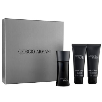 Imagem 1 do produto Armani Code Giorgio Armani - Masculino - Eau de Toilette - Perfume + Gel de Banho + Loção Pós Barba - Kit