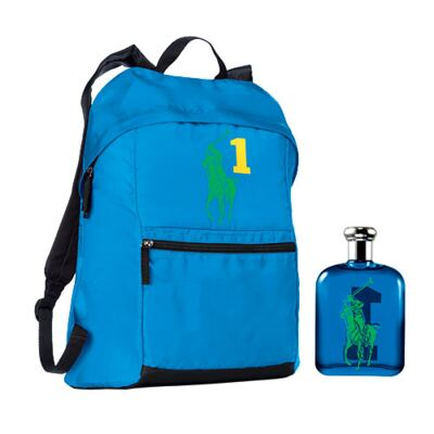 Imagem 1 do produto Polo Big Pony Blue Ralph Lauren - Masculino - Eau de Toilette - Perfume + Mochila - kit