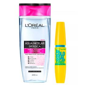Maybelline Kit - Água Micelar Bifásica + Máscara de Cílios The Colossal Volum' Express Waterproof - Kit
