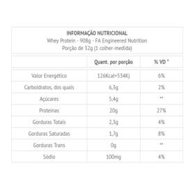 Whey Protein 908G - FA Nutrition - Whey Protein 908G - FA Nutrition - Baunilha