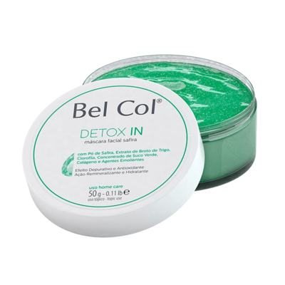 Imagem 2 do produto Bel Col Detox In Mascara Facial Safira Hidratante - Bel Col Detox In Mascara Facial Safira Hidratante 50g