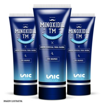 Imagem 1 do produto Kit 3 Minoxidil 5% Para Barba TM 120g