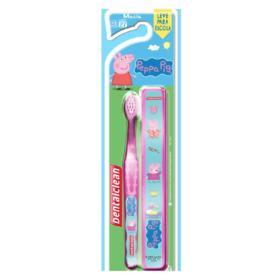 Escova Dental Dentalclean + Estojo Peppa Pig +3 Anos Macia - 1 unidade