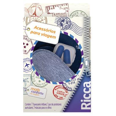 Ricca Acessórios para Viagem Kit - Travesseiro + Máscara + Protetores Auriculares - Kit