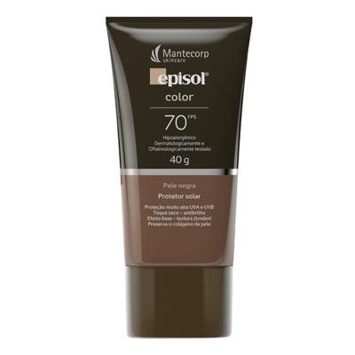 Imagem 1 do produto Protetor Solar Episol Color Pele Negra FPS 70 Loção Efeito de Base 40g