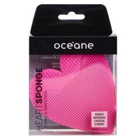 Esponja de Limpeza Facial Océane - Heart Sponge Pink - 1 Un