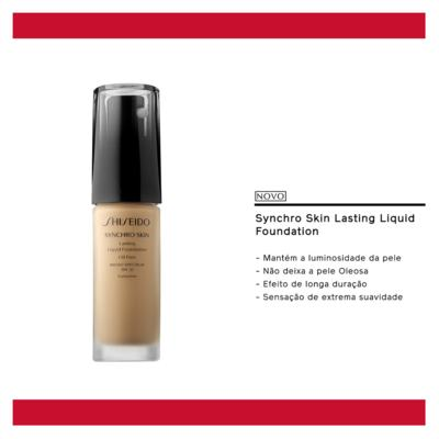 Imagem 6 do produto Synchro Skin Lasting Liquid Foundation SPF 20 Shiseido - Base Líquida - G5 - Golden 5