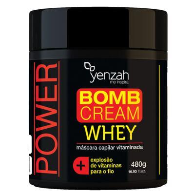 Imagem 1 do produto Yenzah Power Whey Bomb Cream - Máscara Capilar - 480g