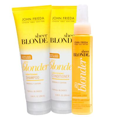 Imagem 1 do produto Kit Shampoo + Condicionador + Spray John Frieda Sheer Blonde Go Blonder Lightening - Kit
