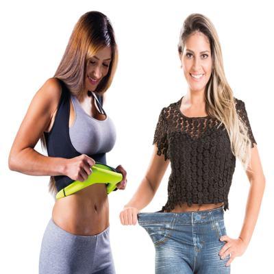 Fitnow T-Shirt Polishop - Feminino + Calça Modeladora Lejeans - 2 Unidades (1 Vintage + 1 Azul) - | G