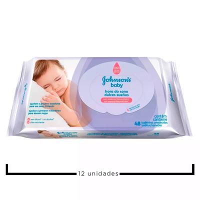 Imagem 2 do produto Kit JJohnson Baby Hora do Sono - Toalhas Umedecidas - 12x 48 Un