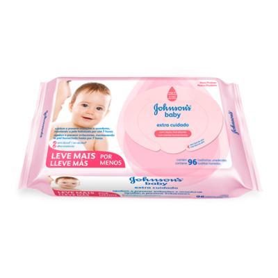 Imagem 1 do produto Toalhas Umedecidas Johnsons Baby Extra Cuidado 96 Unidades