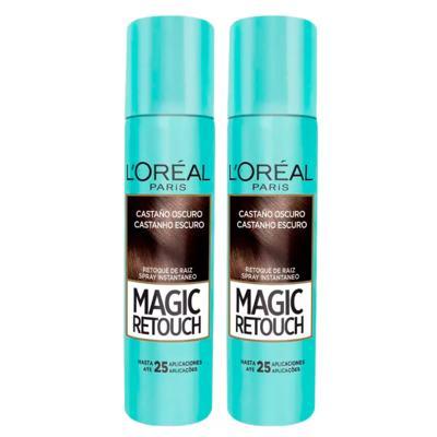 Imagem 3 do produto L'Oréal Paris Magic Retouch + Cicatri Renov Kit - Leave-In + 2 Corretivos Capilar Castanho Escuro - Kit
