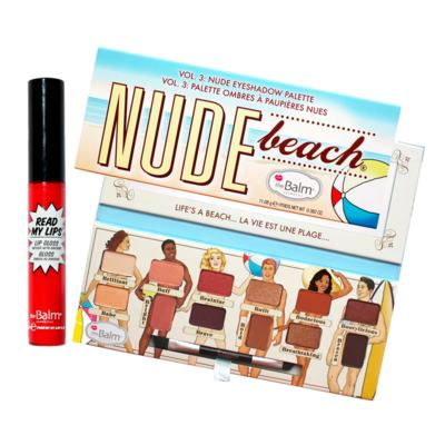 Imagem 1 do produto The Balm Nude Beach + Read My Lips Hubba Hubba Kit - Paleta de Sombra + Gloss Labial - Kit