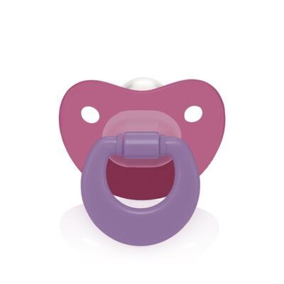 Chupeta Colors Ortoflex Tamanho 1 Rosa BB128 - Multilaser