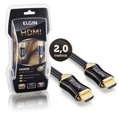 Cabo HDMI/HDMI 1.4 Premium Banhado a Ouro 2 Metros com Filtro - Elgin