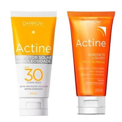 Imagem 2 do produto Darrow Actine - Sabonete Líquido + Protetor Solar Hidratante - Kit