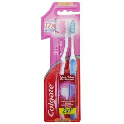 Escova Dental Colgate Slim Soft Compact Suave Macia LV2 PG1