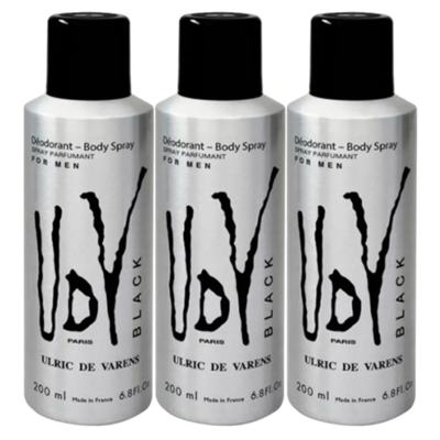Kit Ulrich de Varens - 3x Body Spray UDV Black - Kit