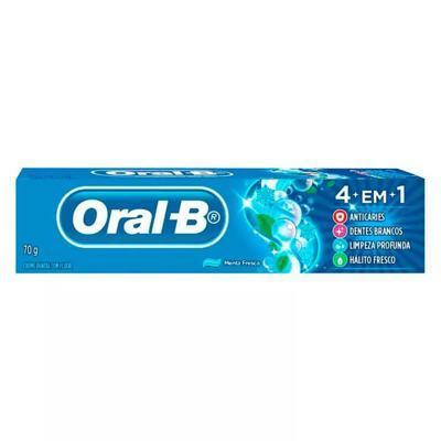 Imagem 1 do produto Creme Dental Oral B 4 em 1 Menta Fresca 70g