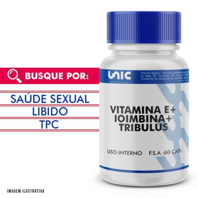 Vitamina E + Ioimbina + Tribulus 60 Doses