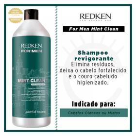 Redken For Men Mint Clean - Shampoo Revigorante - 1L