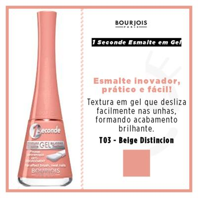 Imagem 4 do produto 1 Seconde Gel Bourjois - Esmalte - T03 - Beige Distincion
