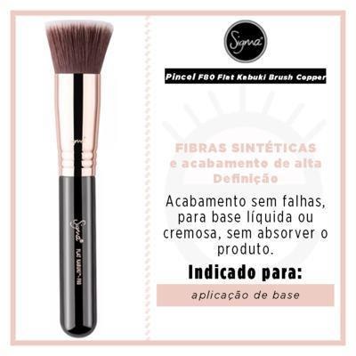 Imagem 2 do produto Pincel para Base Sigma Beauty F80 Flat Kabuki Brush Copper - 1 Un